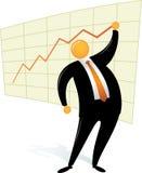 Diagramma capo arancione dell'illustrazione dell'uomo in su Immagini Stock