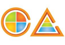 Diagramma ciclico e diagramma del triangolo Fotografia Stock Libera da Diritti