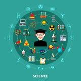 Diagramma circolare di scienza royalty illustrazione gratis