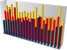 Diagramma a colonna 3d illustrazione di stock