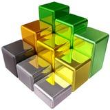 Diagramma a colonna colorato che descrive sviluppo Fotografia Stock