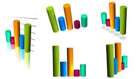 Diagramma a colonna del cilindro Immagine Stock