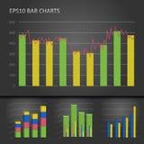 Diagramma a colonna del grafico Fotografia Stock