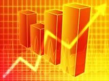 Diagramma a colonna finanziario illustrazione vettoriale
