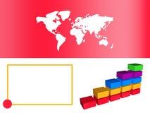Diagramma a colonna rosso di affari che mostra sviluppo Fotografia Stock Libera da Diritti
