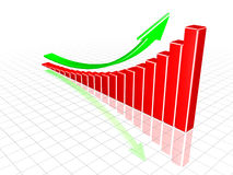 Diagramma crescente. Immagine Stock