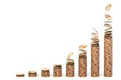 Diagramma crescente dei dollari Immagini Stock Libere da Diritti