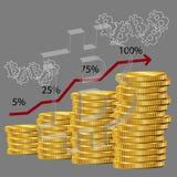 Diagramma 3d di Bitcoin Fotografia Stock Libera da Diritti