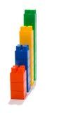 Diagramma dai blocchetti del giocattolo Immagini Stock