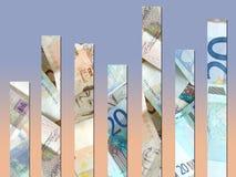 Diagramma dei soldi Immagini Stock
