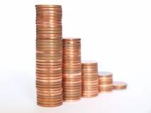 Diagramma dei soldi Fotografia Stock Libera da Diritti