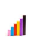 Diagramma del diagramma di colore dei bastoni colorati Fotografia Stock Libera da Diritti