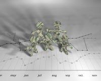 Diagramma del dollaro fotografia stock libera da diritti