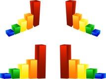 Diagramma del grafico della colonna illustrazione di stock