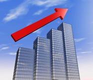 Diagramma del grattacielo Immagine Stock