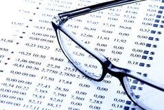 Diagramma del mercato azionario Fotografia Stock Libera da Diritti
