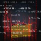 Diagramma del mercato azionario Fotografia Stock