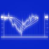 Diagramma del mercato azionario Immagine Stock