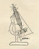 Diagramma del microscopio Immagini Stock