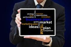 Diagramma del piano aziendale Immagini Stock Libere da Diritti