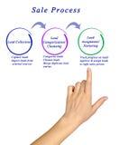 Diagramma del processo di vendita Immagini Stock