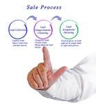 Diagramma del processo di vendita Fotografie Stock Libere da Diritti