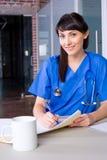 Diagramma dell'infermiera della donna Immagini Stock