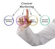 Diagramma dell'introduzione sul mercato contenta Immagini Stock