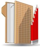 Diagramma della cartella della matita Fotografie Stock