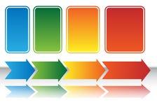 Diagramma della freccia del programma di calore illustrazione vettoriale