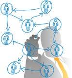Diagramma della gente del gestore delle risorse umane di affari Fotografia Stock Libera da Diritti
