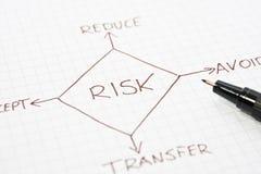 Diagramma della gestione dei rischi Immagine Stock Libera da Diritti