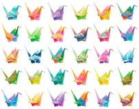 Diagramma della gru di Origami Immagini Stock Libere da Diritti
