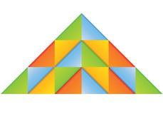 Diagramma della piramide Fotografia Stock Libera da Diritti