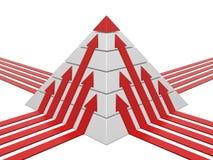 Diagramma della piramide rosso-bianco Fotografie Stock Libere da Diritti
