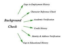 Diagramma della verifica degli antecedenti illustrazione di stock