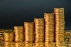 Diagramma delle monete Fotografie Stock