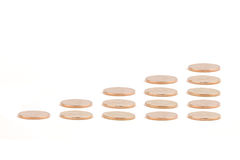 Diagramma delle monete di oro Immagine Stock Libera da Diritti