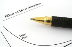 Diagramma di affari Fotografia Stock Libera da Diritti