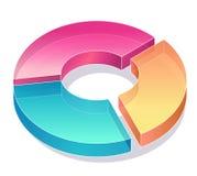 Diagramma di affari Fotografia Stock