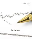 Diagramma di affari con il BUY #3 BASSO fotografia stock