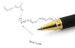Diagramma di affari con il BUY BASSO immagini stock libere da diritti