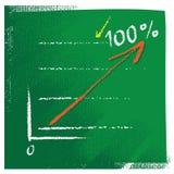 Diagramma di affari con la freccia aumentante rossa Immagini Stock