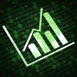 Diagramma di affari ed oggetti relativi dei grafici Fotografie Stock Libere da Diritti