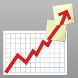 Diagramma di affari in su Fotografie Stock Libere da Diritti