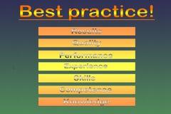 Diagramma di approccio di best practice - illustrazione Illustrazione di Stock