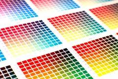 Diagramma di colore Fotografia Stock Libera da Diritti