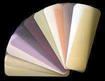 Diagramma di colore Semi-transparent delle veneziane fotografia stock libera da diritti