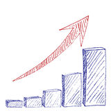 Diagramma di crescita Immagine Stock Libera da Diritti