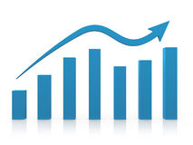 Diagramma di crescita Immagini Stock